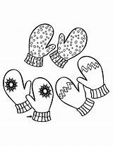 Mittens Coloring Pages Pair Three Christmas Scarf Drawing Template Sketch Getdrawings sketch template