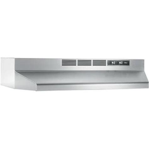 kitchen hood fan home depot nutone rl6200 24 in non vented range hood in stainless