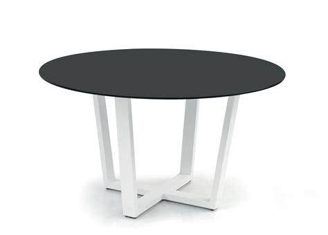 outdoor dining table glass top manutti fuse garden table contemporary garden