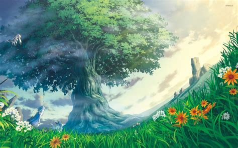 Tree Anime Wallpaper - at the tree of wallpaper anime wallpapers 30558