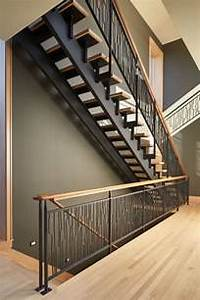 Metal And Woods : these striking steel and wood stairs have water jet cut ~ Melissatoandfro.com Idées de Décoration