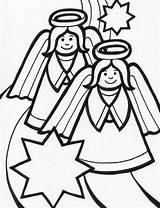 Angel Coloring Pages Christmas Sheet Angels Among Holidays Activity sketch template