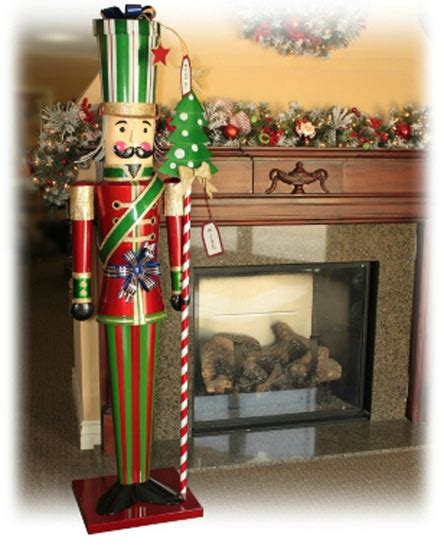 new life size over 6 tall christmas holiday metal toy