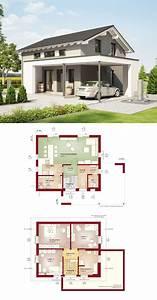 Mehrfamilienhaus Grundriss Modern : modernes einfamilienhaus haus edition 1 v2 bien zenker fertighaus mit satteldach grundriss ~ Eleganceandgraceweddings.com Haus und Dekorationen