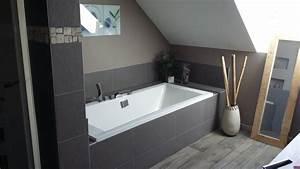 bricolage de l39idee a la realisation salle de bain With salle de bain design avec vasque galet blanc