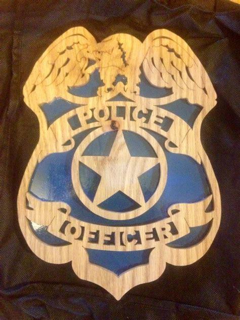 policeofficerplaquebyscrollsawkeepsakesonetsy