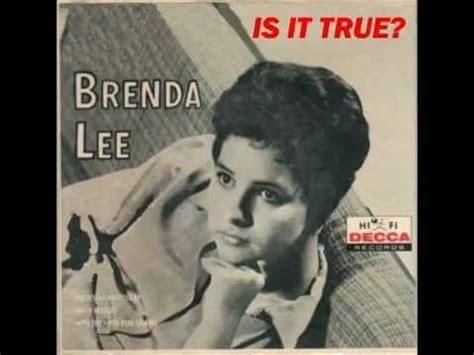brenda lee yesterday s gone скачать бесплатно brenda lee is it true слушать музыку
