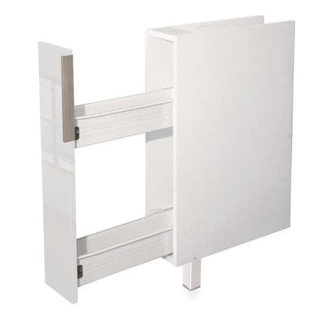 meuble a epices cuisine epices meuble bas de cuisine 15 cm blanc haute brillance achat vente elements bas epices