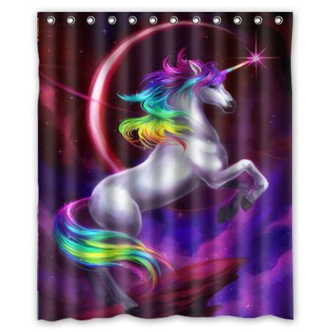 Light Purple Shower Curtain Unicorn Shower Curtains Are Magical