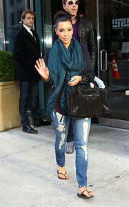 Kim Kardashian Casual Jean Style