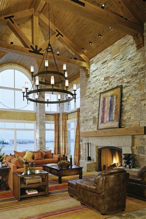 Round Rug Blue by Fireplace Stone Veneer Living Room Rustic With Coronado