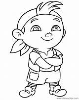 Coloring Neverland Pirates Jake Cubby Pages Arms Disneyclips Crossed Standing Funstuff sketch template