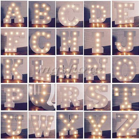 alphabet letter lights led light  white wooden letters standing hanging uk  images