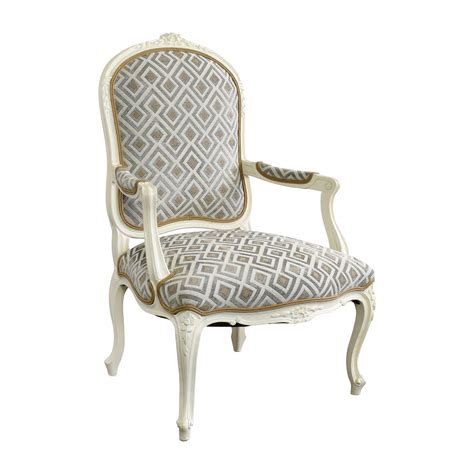 90 white frame upholsterd arm chair chairs