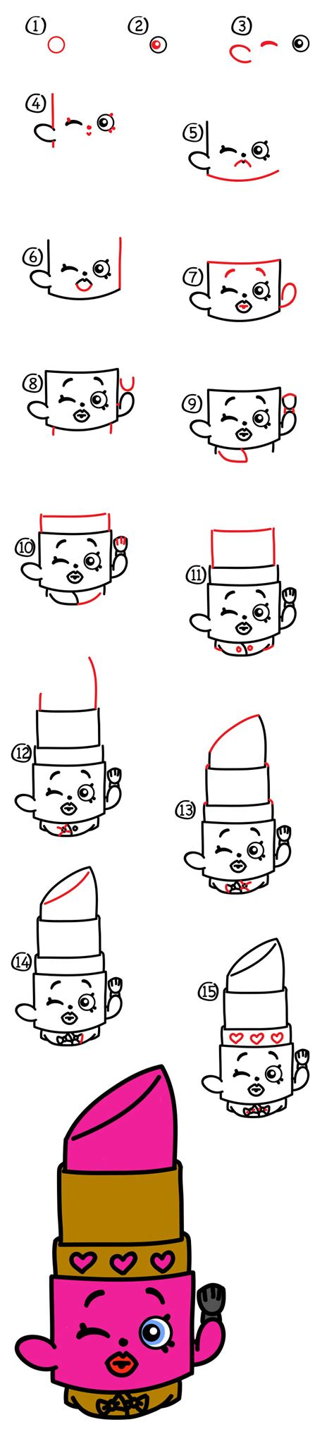 draw lippy lips shopkins art  kids hub