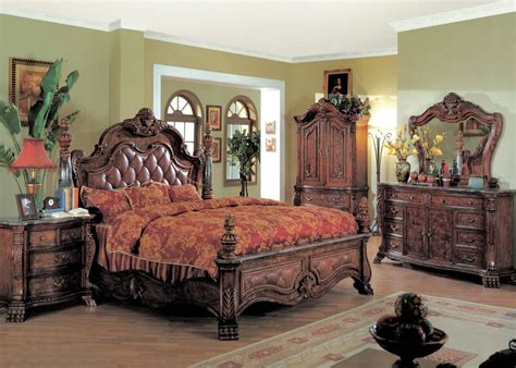 king poster bedroom sets zachary king poster bed 5 luxury bedroom set 15751 | 7