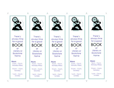 promotional bookmark template bookmarks  bookplates