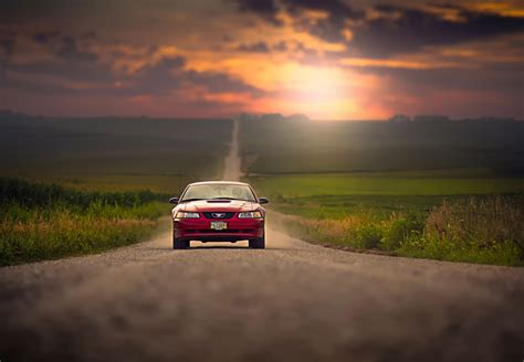 Car Sunset Wallpaper by Wallpaper Sunset Car Vehicle Road Evening