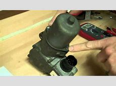 How to test the transfer box motor in the Range Rover L322