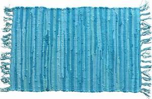 Tapis A Frange : tapis nuances de bleu franges ~ Teatrodelosmanantiales.com Idées de Décoration