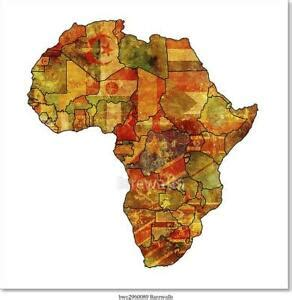 Africa on a world wall map: Africa Old Map Art Print Home Decor Wall Art Poster - F   eBay
