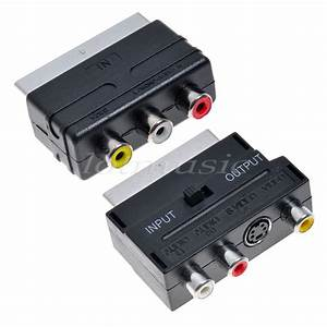 Scart To Composite 3rca S Adapter Scart To 3 Rca Av