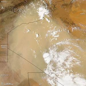 Sahara Desert Sand Storm Seen from Space | Satellite Images