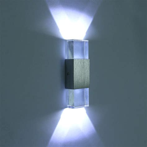 unimall led wall lights up down indoor bedside aluminum