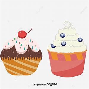 Vector Hand Painted Cupcakes  Vector Diagram  Hand  Cup