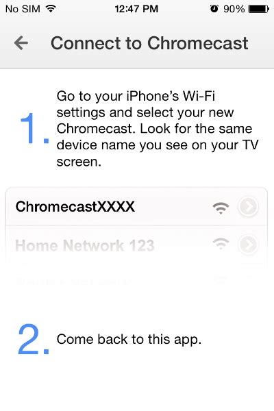 how to connect iphone to chromecast how to install and setup chromecast on your iphone