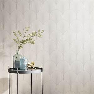 Castorama Deco Murale : papier peint intiss jos phine blanc leroy merlin ~ Teatrodelosmanantiales.com Idées de Décoration
