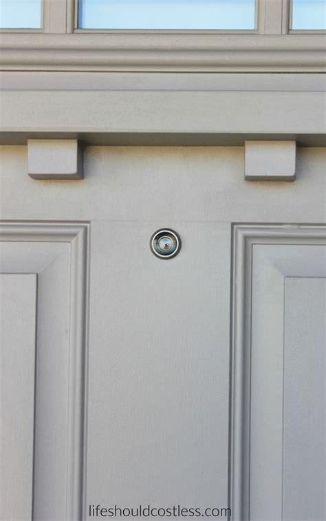 front door peephole diy how to install a peep in your front door