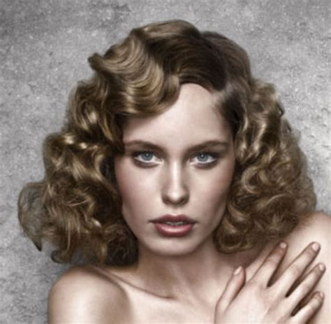 50s Hairstyles For Curly Hair by 50s With Big Curls And Side Png