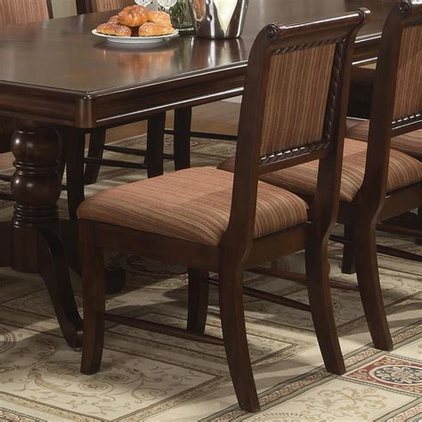 crown louis phillipe dining side chair with striped