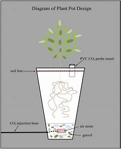 Diagram Of A Plant Pot For The Greenhouse Experiment