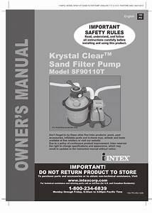 Intex Sf90110t Krystal Clear 2014 User Manual