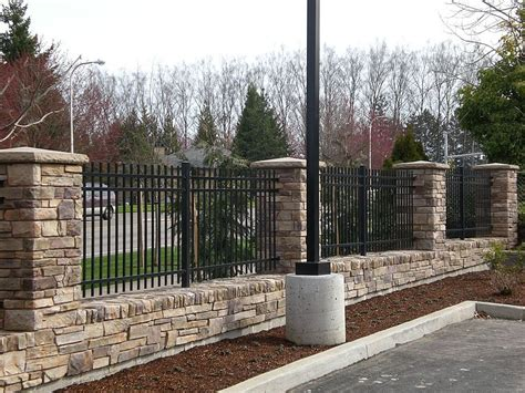 Mauer Mit Zaun by Wall Fence Facade Fencing Fences