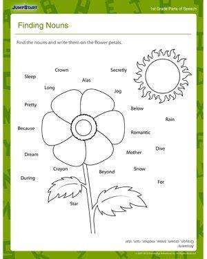 finding nouns elementary worksheet worksheets