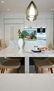 Modern Kitchen Design at Sunny Isles Condo by DKOR Interiors