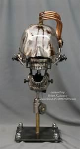 Steampunk Skull Industrial Art Dental Medical by