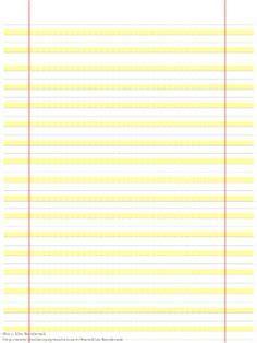 highlighter paper  fourteen lines  blue highlights