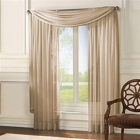 classic chiffon window curtain panel  scarf valance bed bath