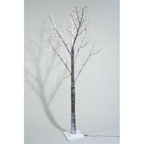 lumineo 160cm warm white led pre lit snowy paper christmas