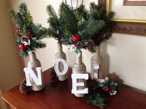 Diy Christmas Decor Letter & Twine Wine Bottles Youtube