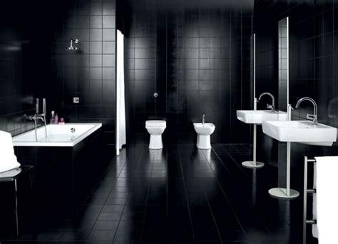 black tile bathroom ideas dadka modern home decor and space saving furniture for