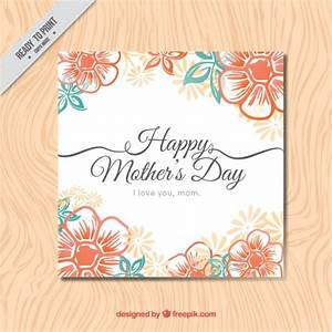 Floral Happy Mother's Day card Vector   Free Download