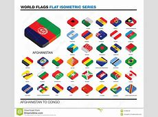 Flags Of The World, Ac, 3d Isometric Flat Icon D Stock