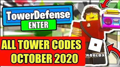 Copy one of the codes from our list, paste it into the box, and then hit enter to receive your reward! Roblox All Star Tower Defense Code - October 2020 - YouTube