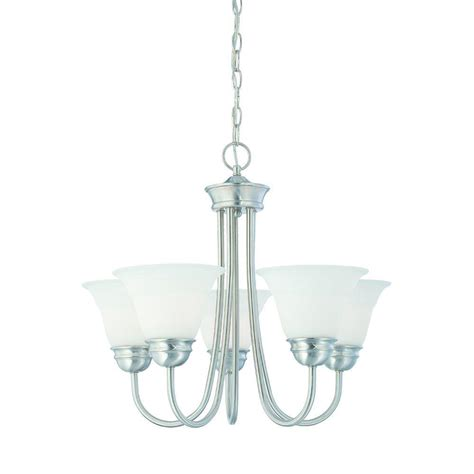 etched glass light shades thomas lighting bella 5 light brushed nickel chandelier