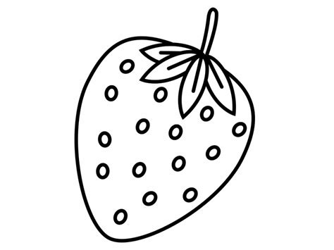 Strawberry And Cherry Coloring Page Coloring Pages